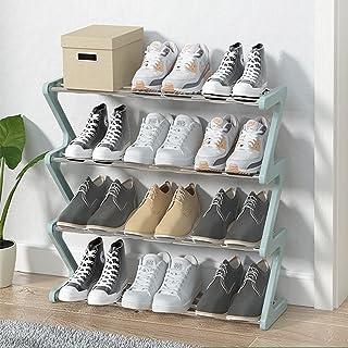 DPGPLP Étagère à Chaussures créative en Forme de Z, Armoire à Chaussures antipoussière Multicouche assemblée à la Porte, é...