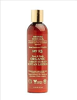 Bronzo Sensualé SPF 15 Sunscreen Tanning Carrot Lotion 8.5 Ounces