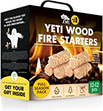 WOODHOT FIRE Starters Natural Tumbleweeds | 144 pcs Full Season Pack CASE | - YETI Wood fire Starter for Fireplace, Campfire, Wood Stove, fire Pit, Charcoal Grill, Barbecue Smoker, BBQ