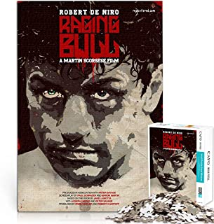 Raging Bull 1000 puzzle pieces for adults and children Challenge yourself 1000 piece movie puzzle Jigsaw puzzle game you l...