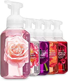 Bath and Body Works Pretty In Pink 5 Foaming Hand Soaps - Black Cherry Merlot, Rose Water Ivy, Raspberry Tangerine, First Bloom, Watermelon Lemonade