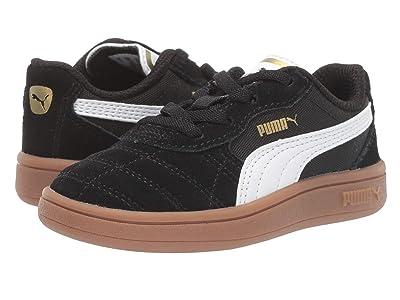 Puma Kids Astro Kick Slip-On (Toddler) (Puma Black/Puma White/Puma Team Gold 1) Kids Shoes