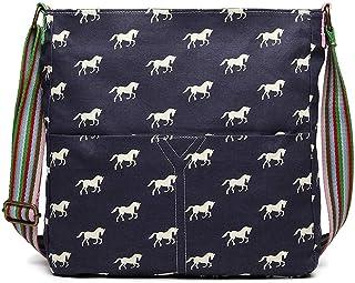 ملكة لولو المرأة الحصان طباعة حقيبة كروسبودي قماش حقيبة الكتف حقيبة مدرسية للبنات