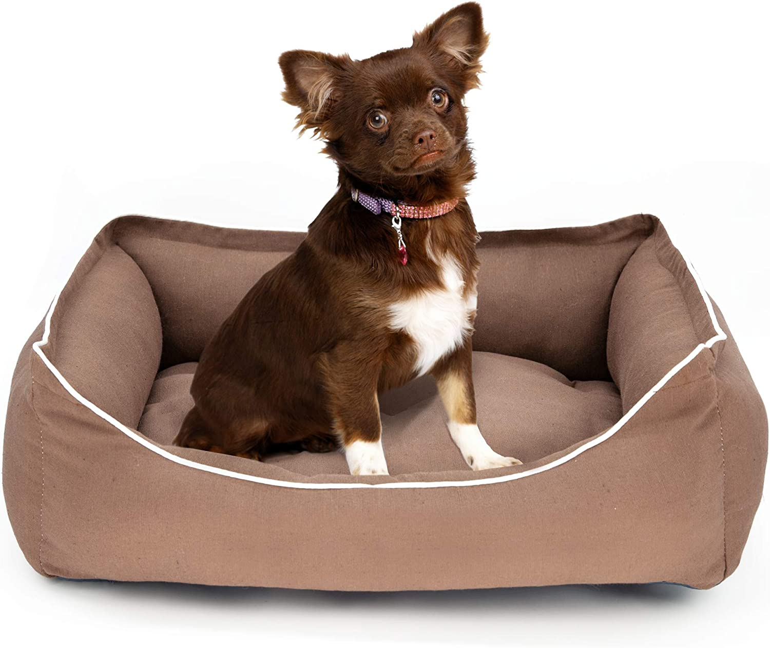 PETKING  Pet Puppy Dog Cat Kitten soft warm Dog Bed Large, Brown