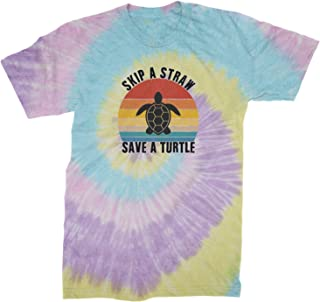 Expression Tees Skip A Straw Save A Turtle Vsco Men's Tie-Dye T-Shirt