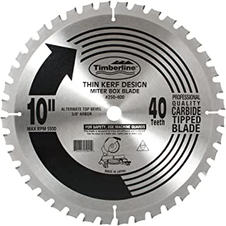 Timberline 250-400 General Purpose and Finishing 10-Inch Diameter by 40-Teeth by 5/8-Inch Bore, ATB Grind Thin Kerf Carbide Tipped Saw Blade