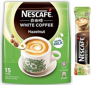 Nestle Malaysia 3 In 1 Nescafe White Coffee Hazelnut Flavour Premix Instant Coffee Rich Aroma Halal Drinks Teatime Breakfa...