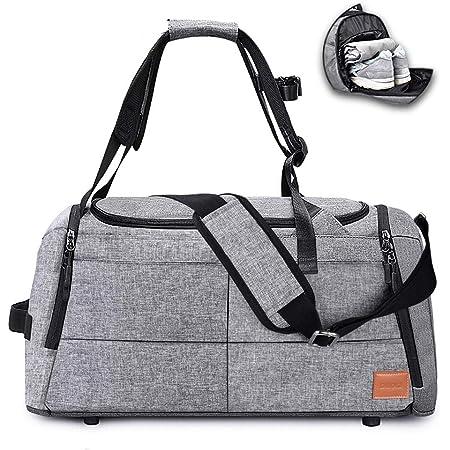DINOKA Sac de Sport Grande capacité avec Poche à Chaussures avec Compartiment à Chaussures Sacs de Voyage Imperméables de Grande Capacité Sac Gym Fitness Sac 50L