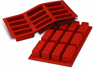 Silikomart SF026/C Silicone Classic Collection Mold Shapes, Rectangle Cake