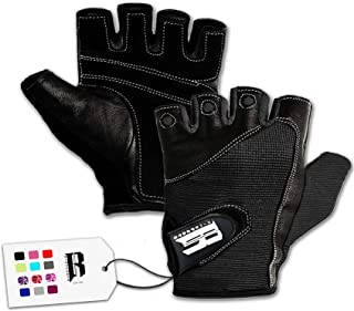 Leather Wheel Chair Padded GLOVES Half Finger Training Gym Exercise Fitness goth