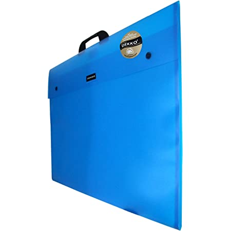 Dekko - Maletín portadocumentos (formato fuelle, tamaño A1), color azul