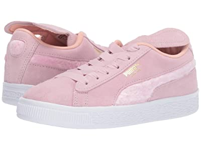 Puma Kids Suede Bunny Slip-On (Little Kid) (Pale Pink/Coral Cloud/Puma Team Gold) Girls Shoes