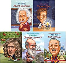 Who was books collection 5 books set (albert einstein, alva edison, isaac newton, charles darwin, walt disney)