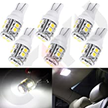 cciyu 6 piece Super White T10 Wedge W5W 921 168 194 10-3528-SMD LED Light bulbs Replacement fit for 2000-2013 Honda Insight