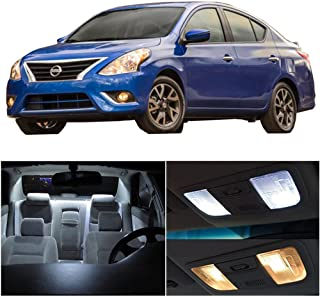 SCITOO 8Pcs White Interior LED Light Package Kit Replacement Bulbs Fits for Nissan versa 2007-2012