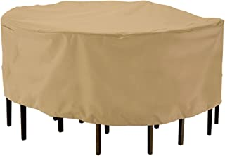 (Large) - Classic Accessories 58222 Patio Table and Chair Set Cover - Large Round
