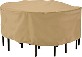 Classic Accessories Terrazzo Round Patio Table & Chair Set Cover, Large