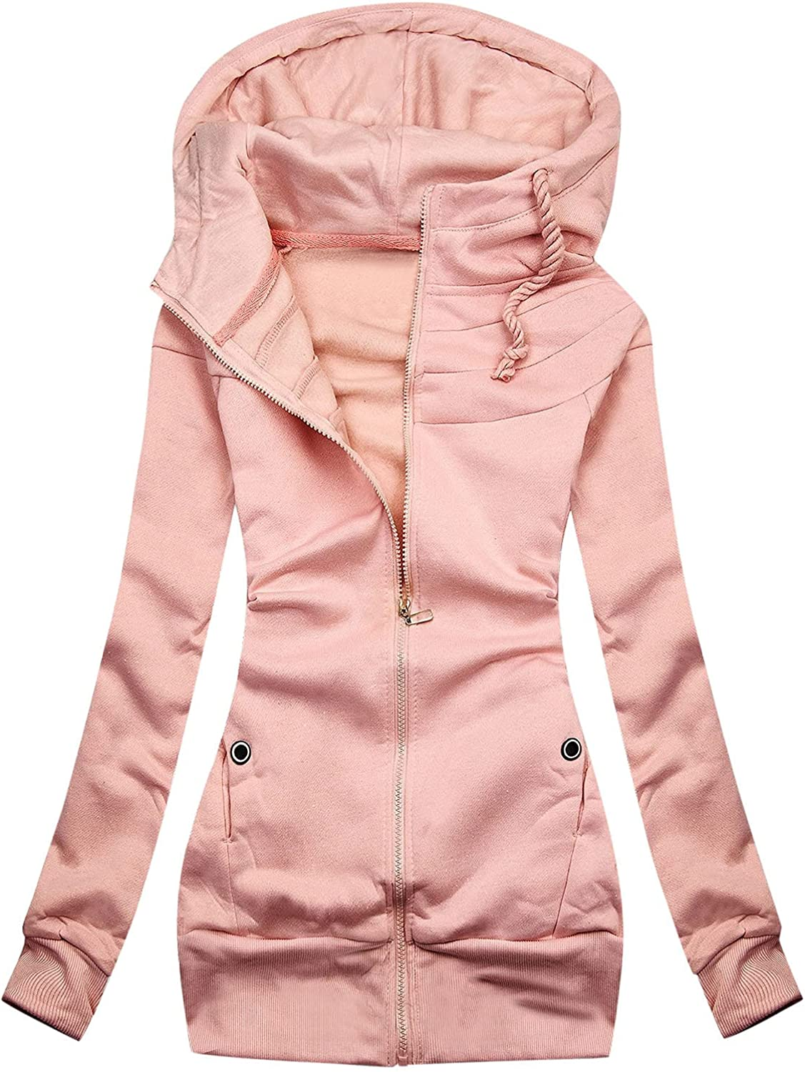 Wirziis Women's Zip Up Hoodies Challenge the A surprise price is realized lowest price of Japan ☆ Sweatshirts Sleeve Casual Long