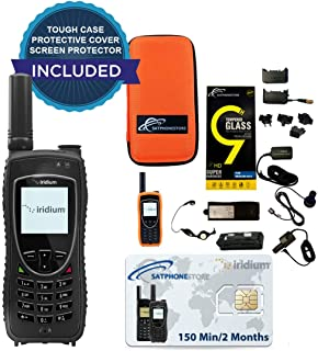 SatPhoneStore Iridium 9575 Extreme Satellite Phone Standard Package with Tough Case, Protective Case and Prepaid 150 Minute SIM Card Ready for Easy Online Activation