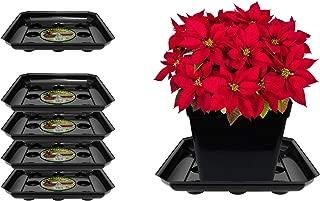 Curtis Wagner Plastics SQDS-1200B Carpet Saver Plant Tray Drip Pans (5-Pack) - Black, Square (Diameter = 12