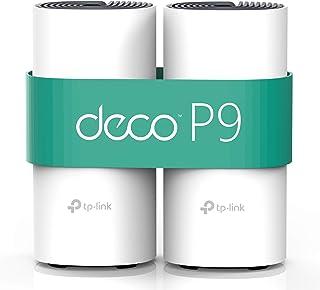 TP-Link Deco P9 (2-Pack) - PLC Wi-Fi Mesh Híbrido con Powerline, Adecuado para Paredes Gruesas, Powerline AV1000 + WiFi AC...