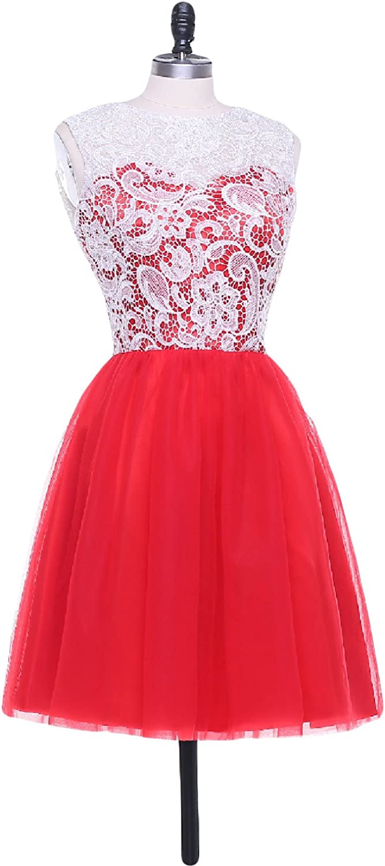 YIRENWANSHA 2018 Prom Dresses Short Manual Lace Party Gown A Line Mini Dress for Girls YZD180