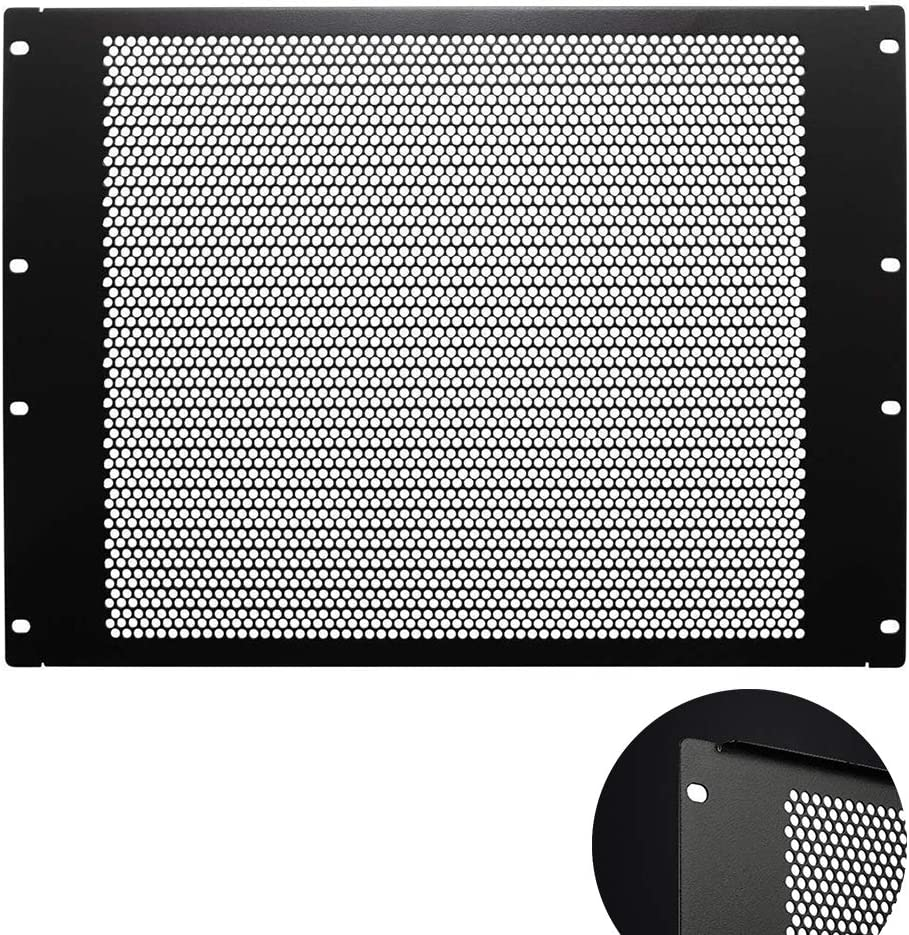 KENUCO Blank Rack Mount Panel Spacer with Venting for 19-Inch Server Network Rack Enclosure Or Cabinet Black (Plate-5U)