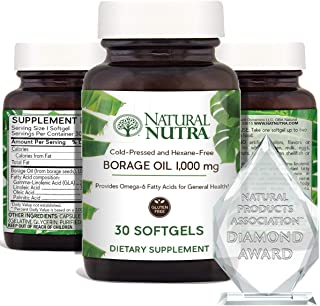 Sponsored Ad - Natural Nutra Borage Oil, Omega 6 Essential Fatty Acids Supplement with GLA, Linoleic, Oleic and Palmitic A...