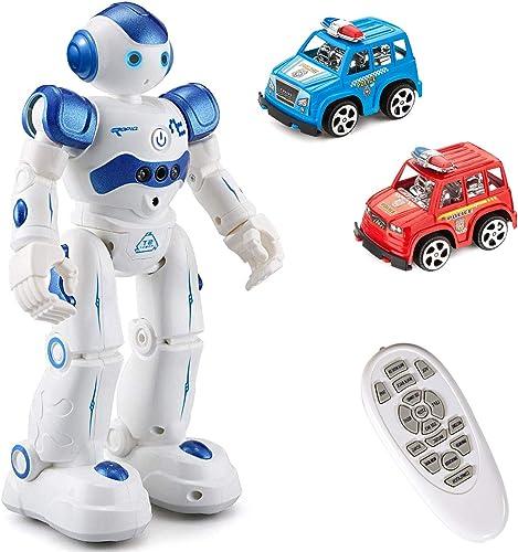2021 MIBOTE Remote Control Robot Toys for Kids, Smart Gesture Control & RC Remote Control 2021 Rechargeable Programmable Robot for Boys Girls Toddler, Walking, Singing, Dancing, online Blue outlet online sale