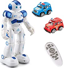 MIBOTE Remote Control Robot Toys for Kids, Smart Gesture Control & RC Remote Control Rechargeable Programmable Robot for B...