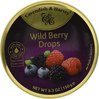 Cavendish Wild Berry Hard Candy - 5.3 Ounce Tin