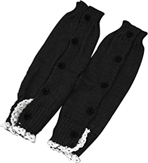 Beetest, 1 par de niños Crochet Largo Encaje Punto Calentador de la Pierna Invierno Calentadores Calcetines Calientes Arranque puños Calcetines Toppers