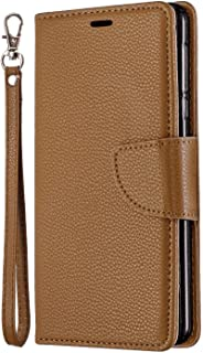 Simple Flip Case Fit for iPhone 11 Pro Max, brown Leather Cover Wallet for iPhone 11 Pro Max
