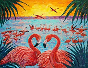 DIY Animals Flamingo Lovers Diamond Painting Animals, Square Full Drill Diamond Painting Kit Animals, 5D Diamond Painting Animal, 5D Diamond Painting kit,Paint by Number Kit Animals (15.8X19.7 INCH)