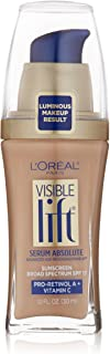 L'Oreal Paris Visible Lift Serum Absolute Foundation, Creamy Natural, 1 Ounce