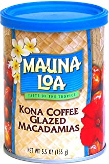 Mauna Loa Kona Coffee Glazed Macadamia Nuts, 5.5-Ounce Can (Pack Of 3)