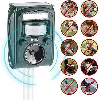 Izbie Z1 Ultrasonic Rodent, Squirrel, Cat, Repellent - Waterproof Effective Outdoor Electronic Deterrent for Dog, Rat, Deer, Raccoon, Bird, Snake, Pest Repeller Control – Green