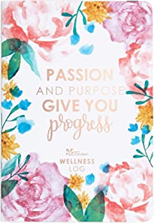 Erin Condren Designer Petite Planner - Wellness Log Edition 3, Track Habits for Sleep, Water Intake, Steps Taken, and Goals. Includes Inspirational and Fun Sticker Set
