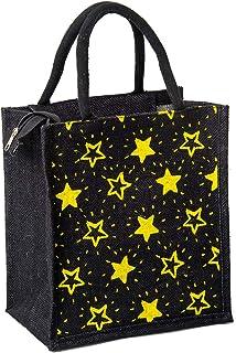 H&B Jute bag for lunch – jute lunch bag, jute handbag, tote bag, printed jute bag, designer jute bag, Tiffin Bag, lunch bo...