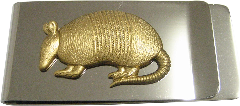 Gold Toned Armadillo Money Clip