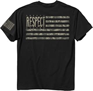 Men' Respect Digital Cotton T-Shirt, Black