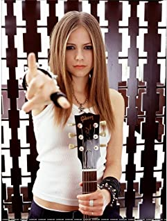 Avril Lavigne Poster by Silk Printing # Size about (60cm x 81cm, 24inch x 32inch) # Unique Gift # 8FC7BB