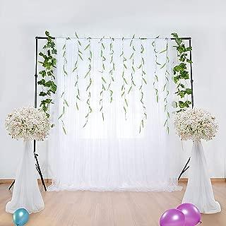 HBBMagic Fondo de Tul/Cortinas Blanco 150 cm*213 cm,Fondo de Foto de Gasa para Photo Studio, Boda, cumpleaños, Fiesta, Baby Shower, Navidad