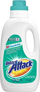 Biozet Attack Regular Laundry Liquid Detergent, 1 liters