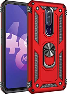 Soosos Case for Oppo F11 Pro Case Hybrid Heavy Duty Military Grade Built-in Metal Rotating Ring Kickstand Cell phone Prote...