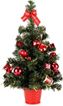 Home-X Tabletop Mini Christmas Tree with Red Ornaments, Cute Holiday Décor, Artificial Home Décor, Desk and Office-20