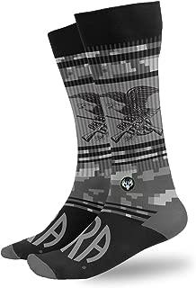 Buck Wear Men's NRA Statement Cotton Socks, Grey, One Size