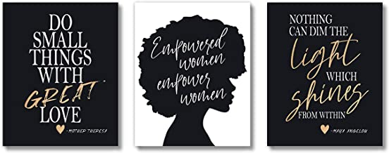 Brooke & Vine African American Black Woman Wall Decor Art Prints (UNFRAMED 8 x 10 Set..