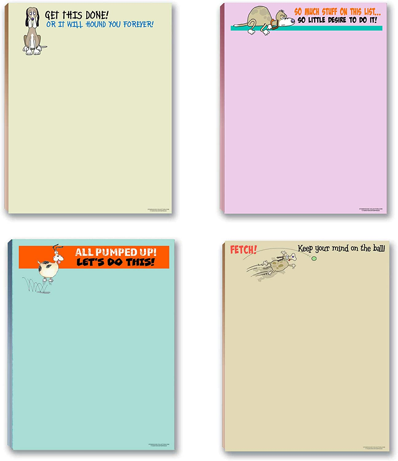 Funny Dog Notepads Pads - Assorted Doggie Max 61% OFF Great 4 San Francisco Mall