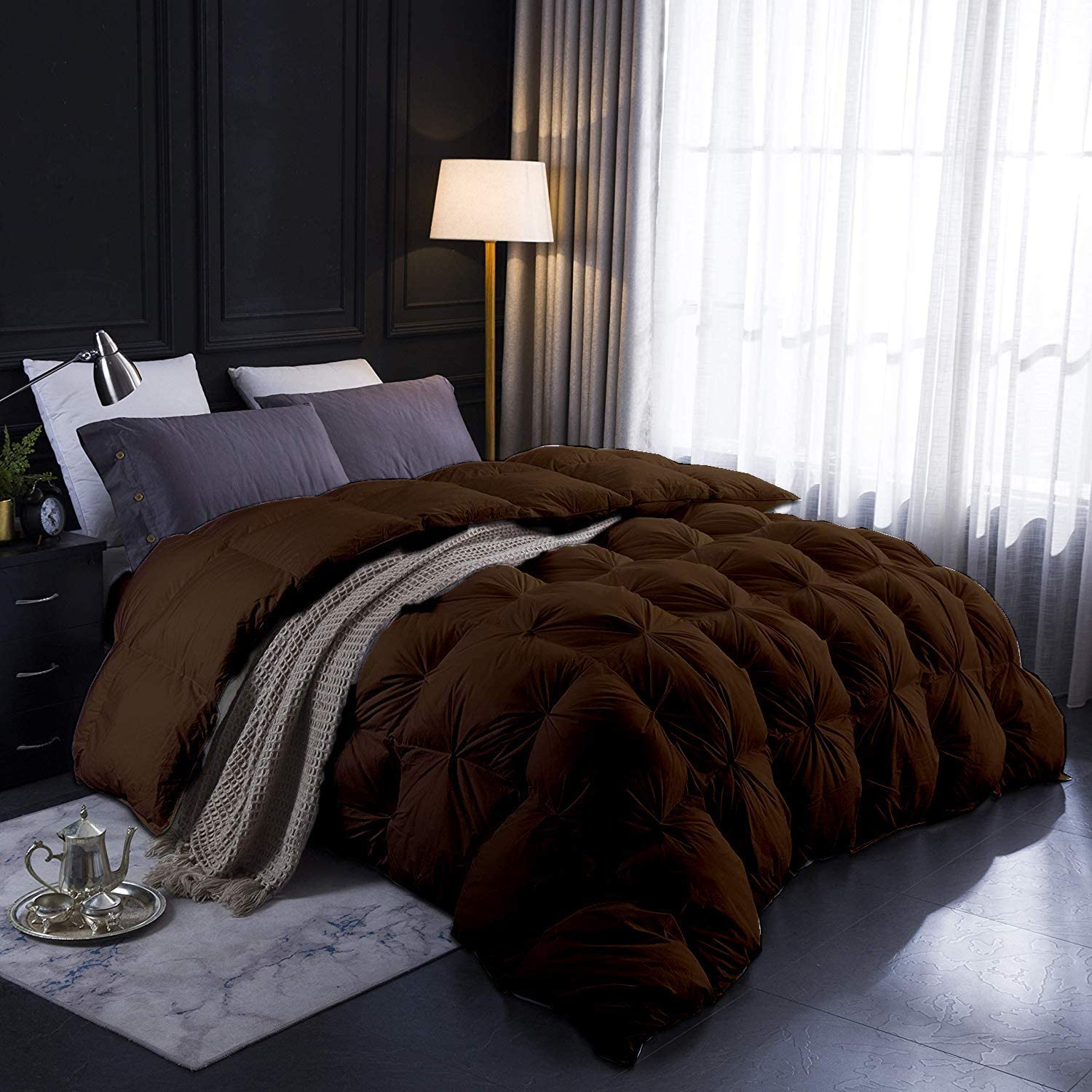 All-Season Goose Down Pinch Pleated Comforter Staple C List price 100% Opening large release sale Long